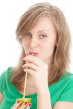λεμόνι κοριτσιών Στοκ φωτογραφία με δικαίωμα ελεύθερης χρήσης