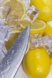 Λεμόνι με τον πάγο Στοκ Εικόνα