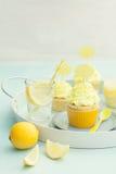 Λεμόνι cupcakes Στοκ φωτογραφίες με δικαίωμα ελεύθερης χρήσης