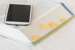 Λεξικό αγγλικά για τη μελέτη για το επιτραπέζιο λευκό Στοκ Εικόνες