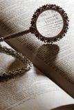 λεξικό πιό magnifier Στοκ Φωτογραφίες