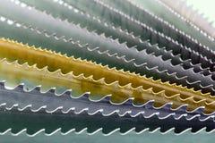 Λεπίδα πριονιών ζωνών Ρύθμιση ανεμιστήρων, μακροεντολή Στοκ φωτογραφία με δικαίωμα ελεύθερης χρήσης