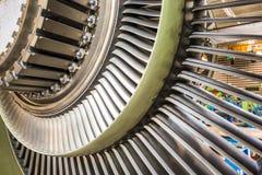 Λεπίδες σε μια μηχανή αεροπλάνων Στοκ Φωτογραφίες