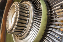 Λεπίδες σε μια μηχανή αεροπλάνων Στοκ Εικόνες