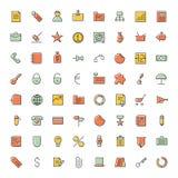 Λεπτά εικονίδια γραμμών για την επιχείρηση, τη χρηματοδότηση και τις τραπεζικές εργασίες Στοκ εικόνα με δικαίωμα ελεύθερης χρήσης