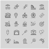 Λεπτά εικονίδια Ιστού γραμμών - λούνα παρκ Στοκ εικόνα με δικαίωμα ελεύθερης χρήσης