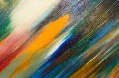 Λεπτά κτυπήματα βουρτσών watercolor στον καμβά Στοκ Εικόνα