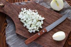 Λεπτά - τεμαχισμένο κρεμμύδι Στοκ εικόνα με δικαίωμα ελεύθερης χρήσης