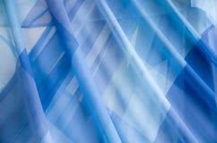 Λεπτές διαφανείς μπλε κουρτίνες σφραγίδων Στοκ Φωτογραφίες