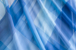 Λεπτές διαφανείς μπλε κουρτίνες σφραγίδων Στοκ Εικόνες