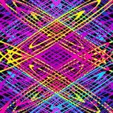 Λεπτές χρωματισμένες γραμμές σε ένα μαύρο υπόβαθρο διανυσματική απεικόνιση