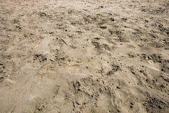 Λεπτή άμμος που θίγεται από πολλούς ανθρώπους Στοκ Εικόνες