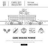 Λεπτή αυτοκινητοβιομηχανία γραμμών στο σύγχρονο ύφος Στοκ Εικόνα