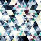 Λεπτή δονούμενη χρωματισμένη σύσταση σχεδίων πολυγώνων γεωμετρική αφηρημένη άνευ ραφής grunge ελεύθερη απεικόνιση δικαιώματος