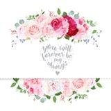 Λεπτή κάρτα γαμήλιου floral διανυσματική σχεδίου ελεύθερη απεικόνιση δικαιώματος