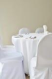 Λεπτή τιμή τών παραμέτρων επιτραπέζιων θέσεων γευμάτων εστιατορίων Στοκ εικόνες με δικαίωμα ελεύθερης χρήσης