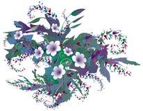 λεπτή floral πορφύρα απεικόνιση αποθεμάτων