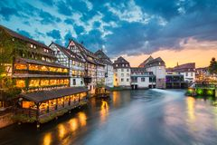 Λεπτοκαμωμένη Γαλλία στο Στρασβούργο, Γαλλία στοκ εικόνα