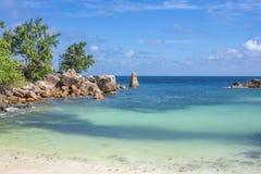 Λεπτοκαμωμένη παραλία Anse, Σεϋχέλλες Στοκ εικόνα με δικαίωμα ελεύθερης χρήσης
