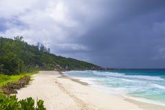 Λεπτοκαμωμένη παραλία Anse, Σεϋχέλλες Στοκ φωτογραφίες με δικαίωμα ελεύθερης χρήσης