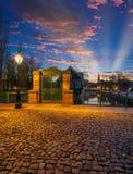 Λεπτοκαμωμένη περιοχή της Γαλλίας στο Στρασβούργο στοκ εικόνες με δικαίωμα ελεύθερης χρήσης