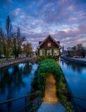 Λεπτοκαμωμένη περιοχή της Γαλλίας στο Στρασβούργο στοκ εικόνα με δικαίωμα ελεύθερης χρήσης