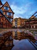 Λεπτοκαμωμένη περιοχή της Γαλλίας στο Στρασβούργο στοκ εικόνες