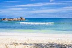 Λεπτοκαμωμένο Anse στο νησί Praslin, Σεϋχέλλες Στοκ Φωτογραφία