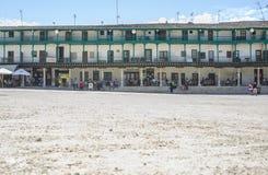 Λεπτομέρεια άμμου του κύριου τετραγώνου στην πόλη Chinchon, Ισπανία Στοκ εικόνα με δικαίωμα ελεύθερης χρήσης