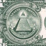 Λεπτομέρεια αμερικανικών δολαρίων Στοκ φωτογραφία με δικαίωμα ελεύθερης χρήσης