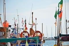Λεπτομέρεια από το λιμάνι στη Σικελία Στοκ εικόνα με δικαίωμα ελεύθερης χρήσης