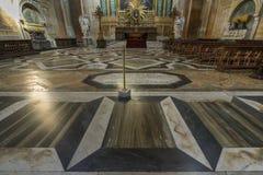 Λεπτομέρεια από το μαρμάρινο πάτωμα του dei Marti Angeli ε degli της Σάντα Μαρία Στοκ Εικόνες