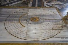 Λεπτομέρεια από το μαρμάρινο πάτωμα του dei Marti Angeli ε degli της Σάντα Μαρία Στοκ εικόνα με δικαίωμα ελεύθερης χρήσης