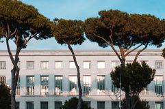 Λεπτομέρεια αρχιτεκτονικής ενός κτηρίου στη Ρώμη ΕΥΡ Στοκ φωτογραφία με δικαίωμα ελεύθερης χρήσης