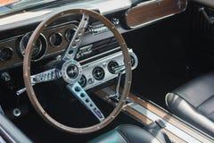 Λεπτομέρεια αυτοκινήτων μάστανγκ της Ford στην επίδειξη Στοκ φωτογραφία με δικαίωμα ελεύθερης χρήσης