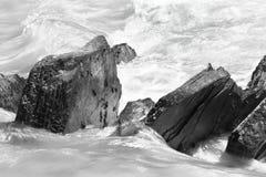 Λεπτομέρεια βράχων και νερών παγετώνων εναέρια όψη του Βανκούβερ Βρετανικής Κολομβίας στο κέντρο της πόλης Καναδάς στοκ εικόνα με δικαίωμα ελεύθερης χρήσης