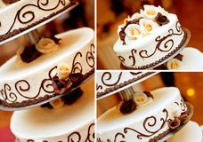 Λεπτομέρεια γαμήλιων κέικ Στοκ εικόνες με δικαίωμα ελεύθερης χρήσης