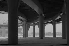 Λεπτομέρεια γεφυρών γραπτή γραμμές αρχιτεκτονικής αφηρημένη ανασκόπηση στοκ φωτογραφία
