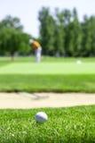 Λεπτομέρεια γκολφ couse Στοκ εικόνα με δικαίωμα ελεύθερης χρήσης