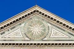 Λεπτομέρεια διακοσμήσεων εκκλησιών santa novella της Μαρίας Στοκ φωτογραφίες με δικαίωμα ελεύθερης χρήσης