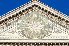 Λεπτομέρεια διακοσμήσεων εκκλησιών santa novella της Μαρίας Στοκ φωτογραφία με δικαίωμα ελεύθερης χρήσης