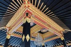 Λεπτομέρεια διακοσμήσεων στο παλάτι σουλτάνων Yogyakarta στοκ εικόνες