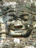 Λεπτομέρεια ενός ανθρώπινου προσώπου στο ναό Bayon στην Καμπότζη Στοκ φωτογραφία με δικαίωμα ελεύθερης χρήσης