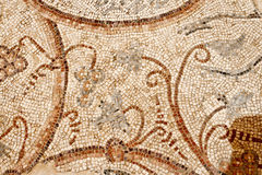 Λεπτομέρεια ενός αρχαίου ζωηρόχρωμου μωσαϊκού Στοκ φωτογραφίες με δικαίωμα ελεύθερης χρήσης