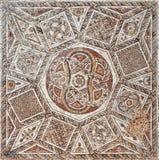 Λεπτομέρεια ενός αρχαίου ζωηρόχρωμου μωσαϊκού Στοκ Φωτογραφία
