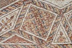 Λεπτομέρεια ενός αρχαίου ζωηρόχρωμου μωσαϊκού Στοκ εικόνες με δικαίωμα ελεύθερης χρήσης