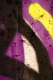 Λεπτομέρεια ενός γκράφιτι ως ταπετσαρία, σύσταση, catcher ματιών Στοκ Φωτογραφίες