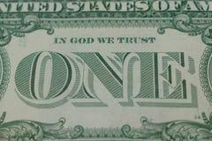 Λεπτομέρεια ενός δολαρίου στοκ εικόνες με δικαίωμα ελεύθερης χρήσης