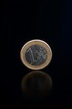 Ένα ευρο- νόμισμα Στοκ φωτογραφίες με δικαίωμα ελεύθερης χρήσης