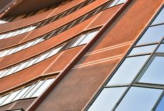 Λεπτομέρεια ενός κτιρίου γραφείων Στοκ εικόνες με δικαίωμα ελεύθερης χρήσης